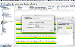 Molecular cloning with codon optimization tool